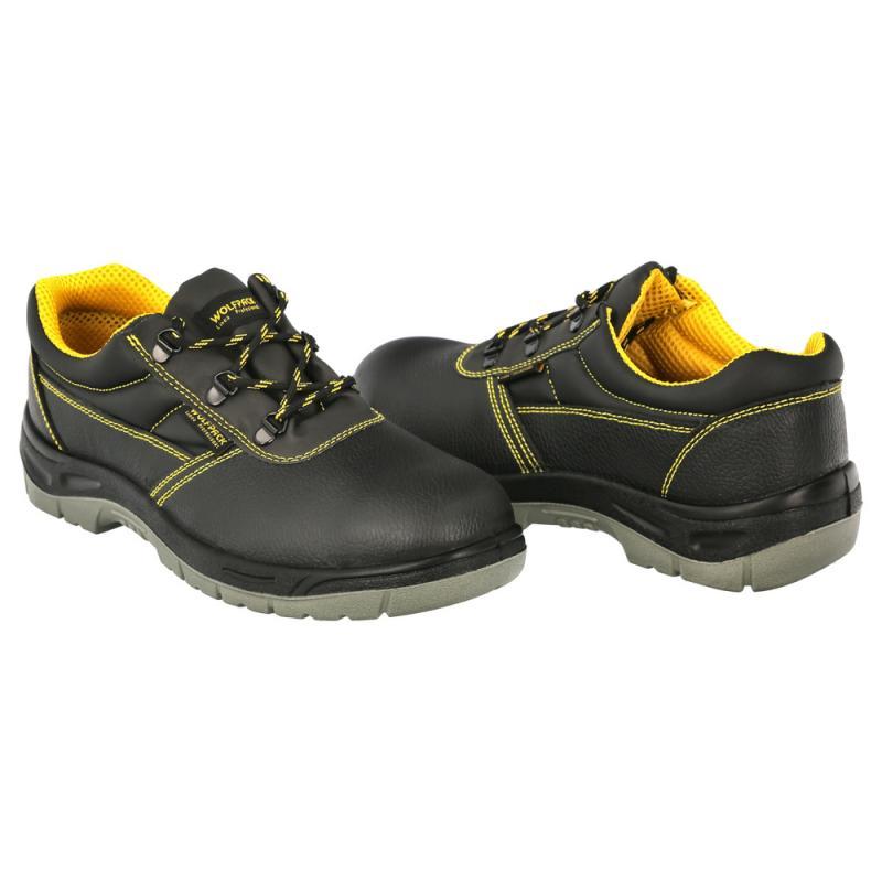 Zapatos Seguridad S3 Piel Negra Wolfpack  Nº 40 Vestuario Laboral,calzado Seguridad, Botas Trabajo. (Par) - Imagen 1