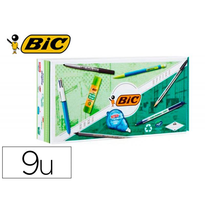Pack oficina bic con 9 piezas eco/reciclado surtidas - Imagen 1