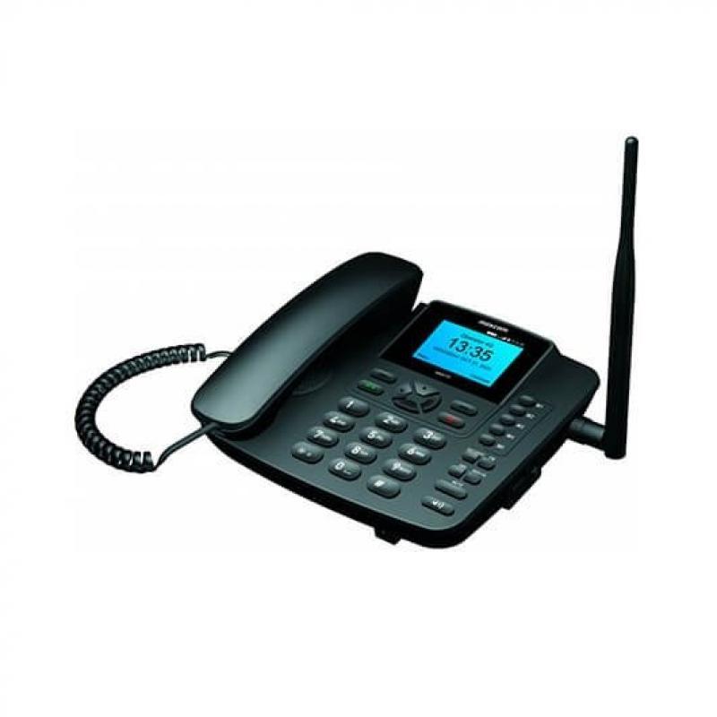 TELEFONO FIJO MAXCOM FIXED PHONE MM41D NEGRO - Imagen 1