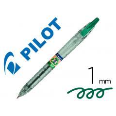 Bolígrafo pilot ecoball plástico reciclado tinta aceite punta de bola 1 mm color verde - Imagen 1