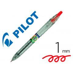 Bolígrafo pilot ecoball plástico reciclado tinta aceite punta de bola 1 mm color rojo - Imagen 1