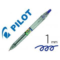 Bolígrafo pilot ecoball plástico reciclado tinta aceite punta de bola 1 mm color azul - Imagen 1